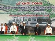 Hanoi: retard des travaux des lignes ferroviaires urbaines