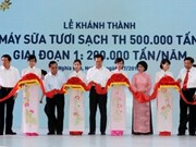 Inauguration de l'usine laitière TH à Nghe An