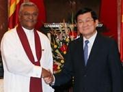 Truong Tân Sang reçoit le chef du parlement sri lankais