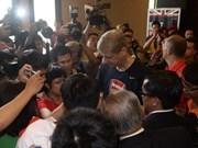 Les Gunners d'Arsenal accueillis comme les stars à Hanoi