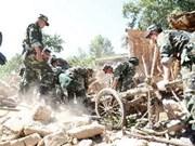 Tremblement de terre : message de sympathie à la Chine
