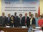 Responsables des journaux francophones réunis à Hanoi