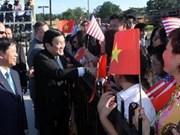 Le président Truong Tan Sang arrive à Washington