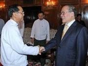 Nguyên Sinh Hung termine sa visite officielle au Myanmar