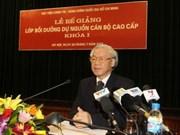 Le chef du PCV souligner le rôle capital des dirigeants