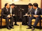 Le secrétaire du CC du PCV To Huy Rua en visite au Japon