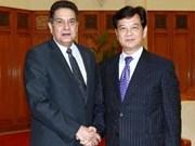 Le Premier ministre reçoit l'ambassadeur de Cuba