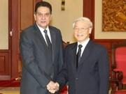 Le leader du PCV reçoit l'ambassadeur de Cuba au VN