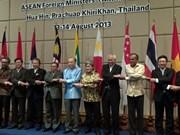 ASEAN : les ministres des AE soulignent la solidarité