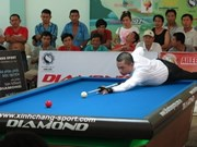 HCM-Ville domine le tournoi international de billard français à Binh Duong