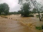 Dégâts causés par le 8e typhon de l'année et des crues