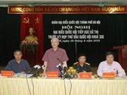 Le Secrétaire général Nguyen Phu Trong à l'écoute des électeurs de Hanoi