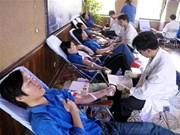 Hanoi : fête de don du sang ''Je suis du groupe sanguin O''