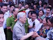 Tournée de travail du leader du PCV à Hung Yen