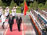 Cérémonie officielle d'accueil du président russe Vladimir Poutine