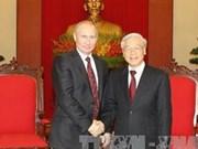 Le secrétaire général Nguyen Phu Trong reçoit le président V. Poutine