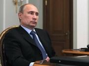 Le président russe Vladimir Poutine à Hanoi