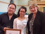 """Le prix d'""""Etudiant international de l'année"""" de l'Australie à une Vietnamienne"""