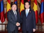 Le PM reçoit le président mongol
