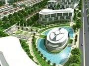 Construction de centres urbains vers la croissance verte