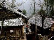 La neige recouvre le plateau calcaire de Dong Van