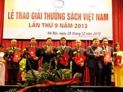 Une centaine d'ouvrages reçoivent le Prix du livre du Vietnam 2013