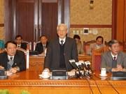 Nguyen Phu Trong travaille avec le Conseil de la théorie du CC du PCV
