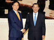 Entrevue Nguyen Tan Dung - Hun Sen