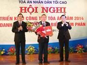Truong Tan Sang à la Conférence de la Cour populaire suprême