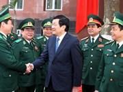 Le président formule des voeux du Têt au Commandement des garde-frontières