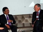 WEF : rencontre des responsables suisse et européen