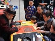 Le Temple de la Littérature de Hanoi reçoit des touristes lors du Nouvel An lunaire