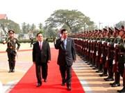 Hun Sen effectue une visite officielle au Laos