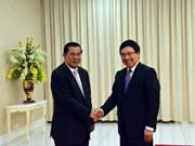 Pham Binh Minh reçu par le Premier ministre cambodgien