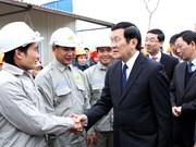Truong Tan Sang visite la première ZI auxiliaire à Hanoi