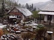 De la neige à Cao Bang, Lai Chau et Lao Cai