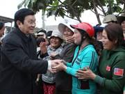 Truong Tan Sang se rend à Binh Dinh