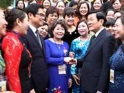 Le chef de l'Etat rencontre des entrepreneuses exemplaires