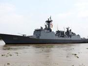 Un navire de la Marine sud-coréenne à Hô Chi Minh-Ville