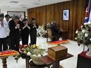 Hommage posthume à l'héroïne cubaine Melba Hernandez