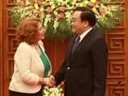 Le vice-PM Hoang Trung Hai se félicite des aides irlandaise