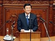 Truong Tan Sang rencontre des responsables de partis politiques et du gouvernement japonais