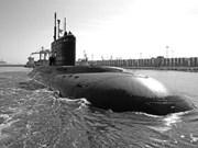 Le sous-marin HQ 183-HCM-Ville est arrivé en baie de Cam Ranh