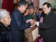 Le président Truong Tan Sang en tournée à Nghe An