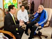 Le PM rencontre le leader cubain Fidel Castro