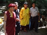 Une délégation bouddhiste indienne rend hommage au général Vo Nguyen Giap