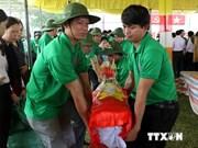 Inhumation des restes de soldats vietnamiens tombés au Laos et au Cambodge