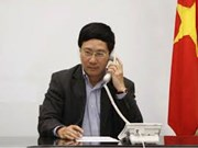 Conversation téléphonique entre Pham Binh Minh et Wang Yi