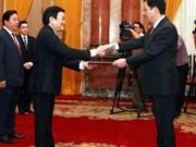 Les ambassadeurs polonais et chinois présentent leurs lettres de créance