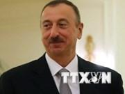 Accueil officiel en l'honneur du président de l'Azerbaïjan